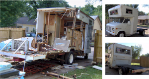 Chevrolet Van / Diamond RV Demo and Re-Fab Flatbed Truck
